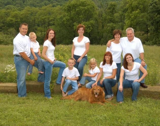 Millersburg family portrait jeans casual